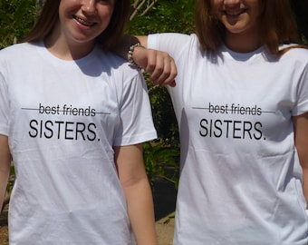 2 Matching Best Friend T Shirts  Birthday Gift For Best Friends Sisters Sisters In The Soul Sisters Forever Friends bff gifts for women