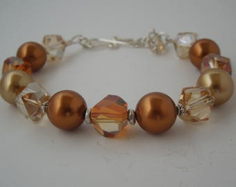 Sophie Citrine & Golden Pearl Bracelet