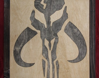 Mandalorian Wooden Inlay Wall Art