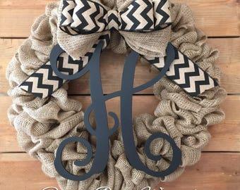 Front Door Wreath | Burlap Wreath | Summer Wreath | Rustic Wreath | Farmhouse Wreath | Housewarming gift