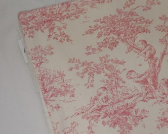 Pink Central Park Toile and Chenille Receiving Stroller Blanket