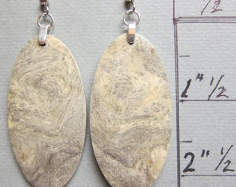 Large, Long Exotic Wood Earrings, Buckeye Burl, Dangle ExoticWoodJewelryAnd handcrafted ecofriendly