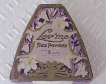 Antique Lov'me Face Powder Box by Melba