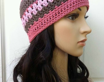 Ladies Crochet Hat Pattern - Womens Beanie Pattern No.208 Digitail Download PDF English