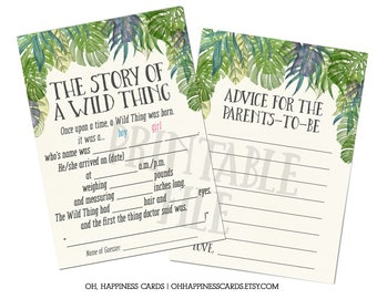 INSTANT DOWNLOAD: Where the Wild Things Ad-Lib Game & Advice Card- Wild Rumpus, Max