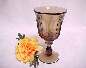 Old Williamsburg by Imperial Glass Wine in Nut Brown, Vintage Colored Glassware Stem, Collectible Mid Century Barware, Heisey Re Issue
