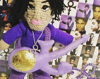Prince doll with guitar