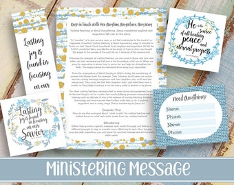 """Ministering Message kit """"Keep in Touch"""" 