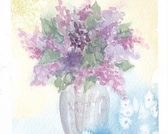 bouquet 32 - original watercolor painting