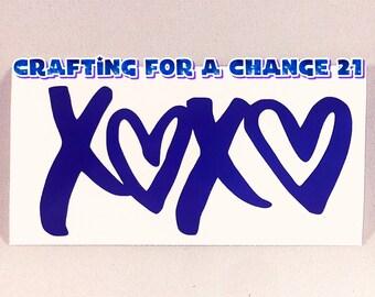 XOXO Vinyl Decal / XOXO Decal / XOXO / Hugs and Kisses Decal, Love Decal, Love, Car Decal, Vinyl Decal, Vinyl Sticker, Laptop Decal, Yeti