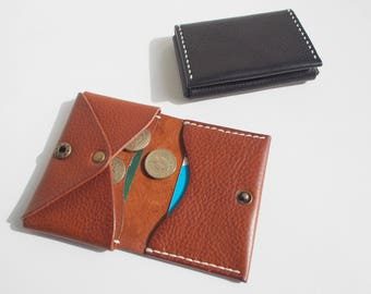 Leather Wallet, Small Leather Wallet, Minimal Wallet