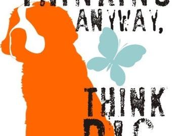 Saint Bernard Dog Art Print Wall Decor Inspirational Series