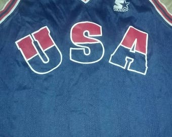 Rare Olympic USA Starter BasketBall Jersey XL