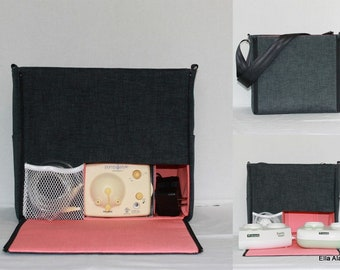 Ready to ship* XS Ella style Breast Pump Bag in PP Jackson Cavern with zipper top closure