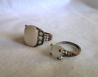 Vintage Semi Precious Stone Ring - Choice of two