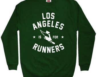 Los Angeles is for Runners Sweatshirt - Men S M L XL 2x 3x - Crewneck, Running Sweatshirt, Jogging Sweatshirt, Marathon Sweatshirt, RUN LAX