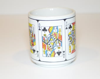 Vintage Royal Flush Poker Hand Coffee Mug - Tea Mug, Coffee Cup -  2 Mugs Available, 1970s, Vintage Tableware, Bridge, Poker, Cards, Games