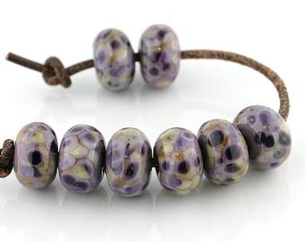 Antique Violet Handmade Lampwork Beads (8 Count) by Pink Beach Studios - SRA (1694)