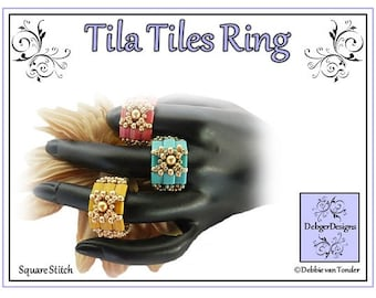 Tila Beading Pattern, Tutorial, Ring - TILA TILES