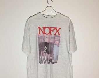 NOFX rare vintage tshirt grey - XL