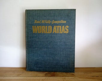World Atlas, old state maps, old world maps, Rand McNally Atlas, United States history, Vintage maps,