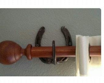 Horseshoe Curtain Holder