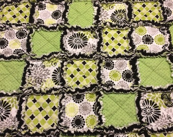 Green and Black Baby Quilt