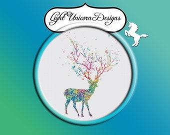 Deer 4 Cross Stitch Pattern Instant Download