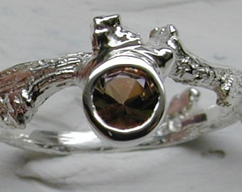 Sterling Silver & Andalusite Ring