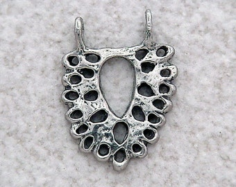 Green Girl Studios Pewter Lace Pendant