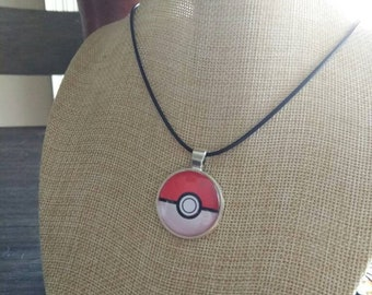Pokemon pokeball anime pendant and necklace
