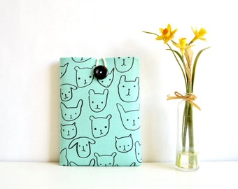 "Kindle Case, Kindle Paperwhite Sleeve, Amazon Fire Case, Fire 7"" Case, Fire HD 8 Case - Cats + Dogs"