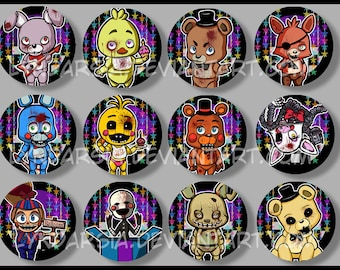 Five Nights at Freddy's Buttons