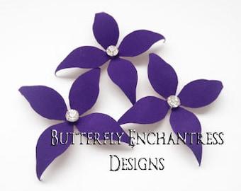 Flower Hair Accessories, Bridal Hair Flowers, Wedding Head Piece - 3 Purple Wynn Flower Hair Pins