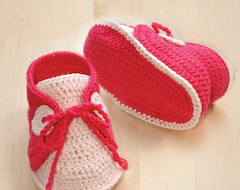 CROCHET PATTERN Baby Boat Shoes Baby Crochet Sneaker Crochet Booties Pattern Crochet Newborn Booties Newborn Socks (BBS02-B-PAT)