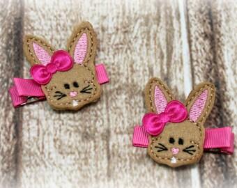 Easter Hair Clip, Easter Clip, Easter Clippie, Easter Bunny Clippie, Bunny Hair Clip, Bunny Clip, Bunny Clippie