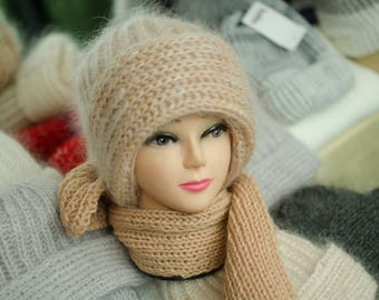"""Set """"Knitted hat and scarf"""""""