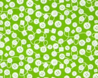 Michael Miller Fabrics - Bouncy Buttons Fern - CX 6702-FERN-D