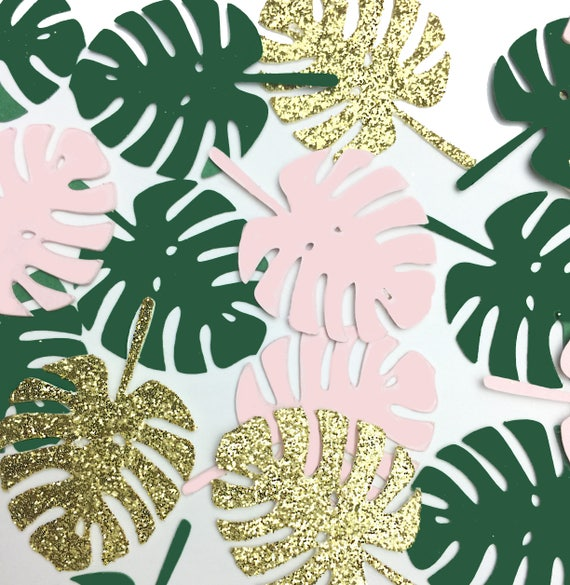 Tropical #Monstera Leaf Confetti