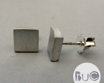 Modern geometric Quadtrati women's earrings minimal by brucojewels