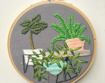 "Embroidery Hoop Art ""Delia"""