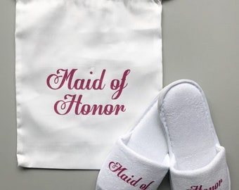Mother of the bride gift set, mother of the bride gift, mother of the bride slippers, mother of the bride, bride to be, bridal party slipper