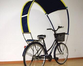 Parapluie bicolore aerodynamique pour tout type de cycle