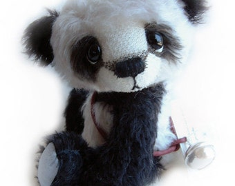 Happy Chappy Chewy Panda - OOAK artist bear epattern by Jenny Lee of jennylovesbenny bears PDF