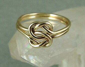 Solid Gold Love Knot Ring / Solid 14k Celtic Knot ring / Gold Infinity Knot Ring / Lover's Knot Ring / Wedding Ring / Best Friend Ring