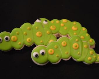 Spring Caterpillar Cookies