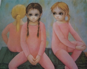 """Vtg """" Big EYES"""" Lot of #20 Cards  Margaret Keane  - Blank Cards-  """"The Ballet Class""""  New Old Stock -5"""" x 7"""""""