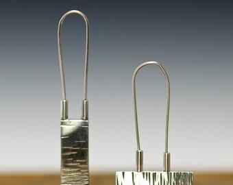 alignment earrings  sterling silver hand made earrings