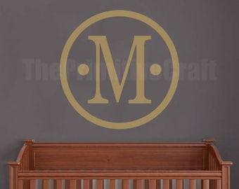 Personalized Monogram Wall Decal, Wall Decor, Vinyl Wall Decor, Bedroom Decal, Nursery Decor, Family Monogram