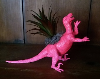 Faux Succulent Dinosaur Planter